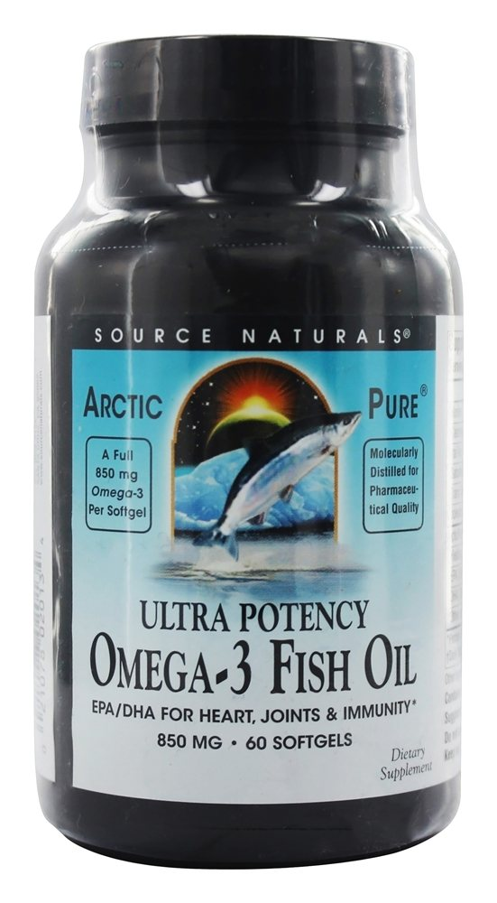 Buy source naturals arcticpure omega 3 fish oil 850 mg for Side effects fish oil