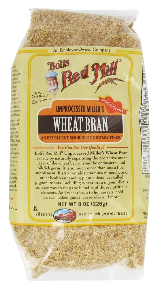 Buy Bob's Red Mill - Wheat Bran Unprocessed Miller's - 8 oz
