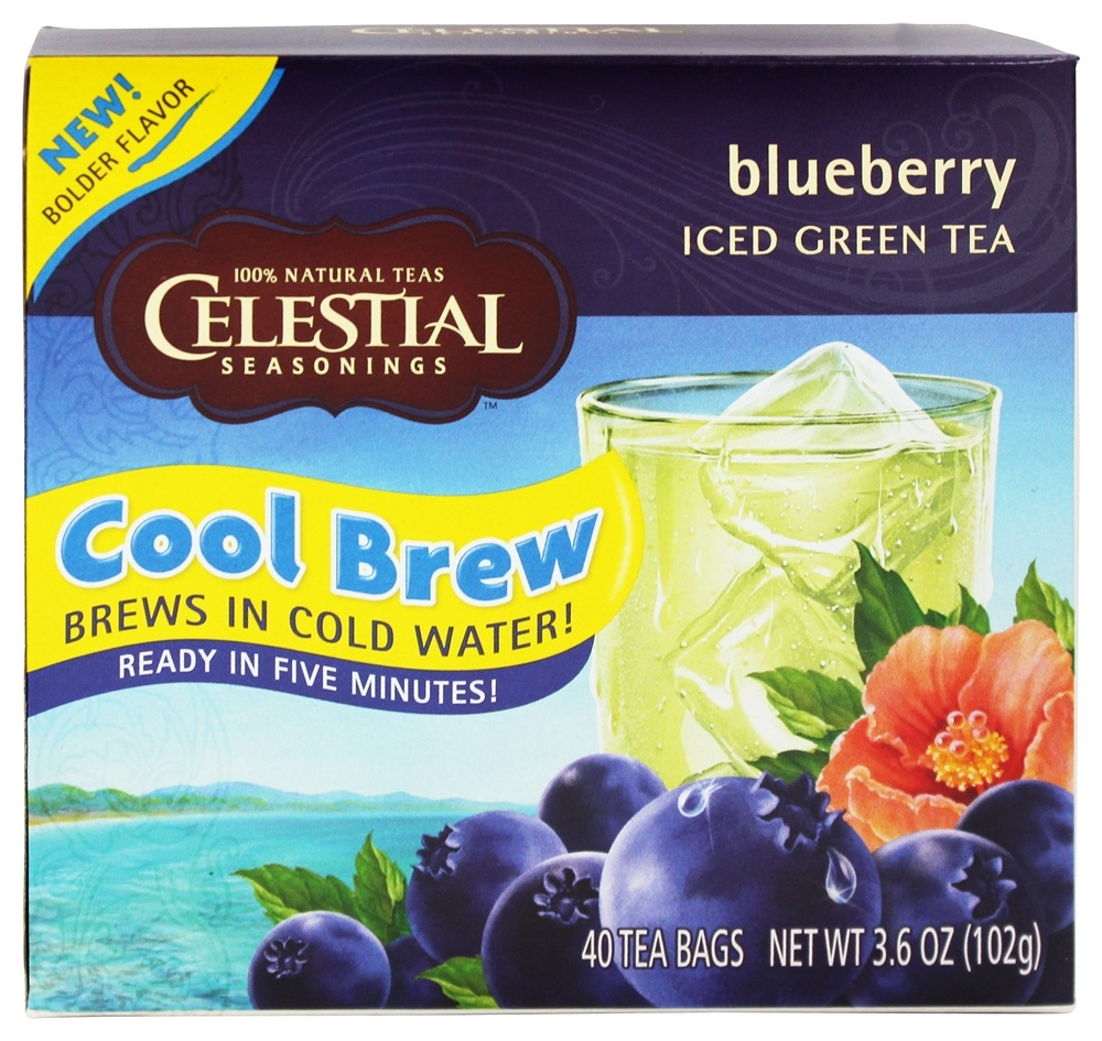 ... Cool Brew Iced Green Tea Blueberry - 40 Tea Bags at LuckyVitamin.com