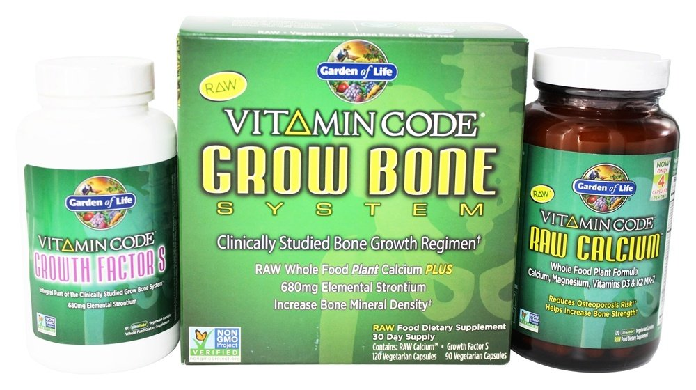 Buy Garden of Life - Vitamin Code Grow Bone System at LuckyVitamin.com