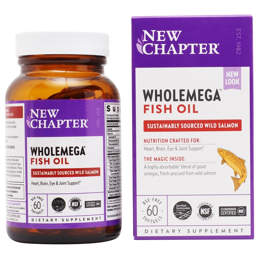 Buy new chapter wholemega 100 wild alaskan salmon extra for New chapter fish oil