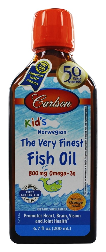 Buy carlson labs carlson kid 39 s the very finest norwegian for Carlson norwegian fish oil