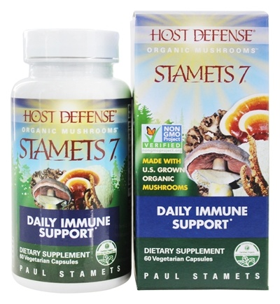 Fungi Perfecti - Host Defense Stamets 7 General Immune Support - 60 Vegetarian Capsules