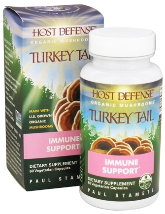 Fungi Perfecti - Host Defense Turkey Tail Cellular Support - 60 Vegetarian Capsules