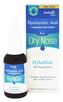 Hyalogic - Hylamist HA Nasal Mist with Hyaluronic Acid & Grapefruit Seed Extract - 2 oz.