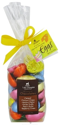 DROPPED: Lake Champlain Chocolates - All Natural Chocolate Easter Eggs Gift Bag Assorted - 14 oz.