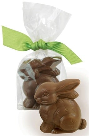 DROPPED: Lake Champlain Chocolates - Placesetting Easter Bunny Milk Chocolate 1.75 inches - 0.6 oz. CLEARANCE PRICED