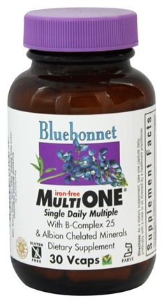 DROPPED: Bluebonnet Nutrition - Multi One Multivitamin & Multimineral Iron-Free - 30 Vegetarian Capsules