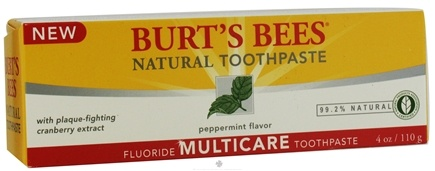 DROPPED: Burt's Bees - Natural Toothpaste Multicare Fluoride Peppermint - 4 oz.