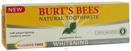 DROPPED: Burt's Bees - Natural Toothpaste Whitening Fluoride-Free Peppermint - 4 oz.