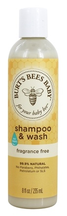 Burt's Bees - Baby Bee Shampoo & Wash Tear Free Fragrance Free - 8 oz.