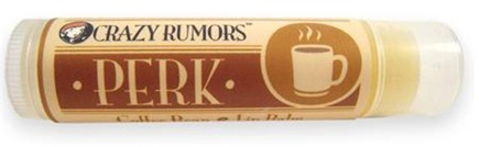 DROPPED: Crazy Rumors - Perk Lip Balm Coffee Bean - 0.15 oz. CLEARANCE PRICED