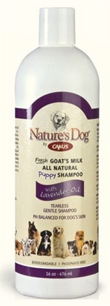 DROPPED: Canus - Nature's Dog Fresh Goat's Milk Puppy Shampoo with Lavender Oil - 16 oz. CLEARANCE PRICED