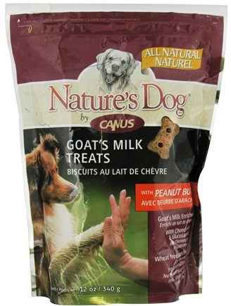 DROPPED: Canus - Nature's Dog Goat's Milk Treats with Peanut Butter - 12 oz.