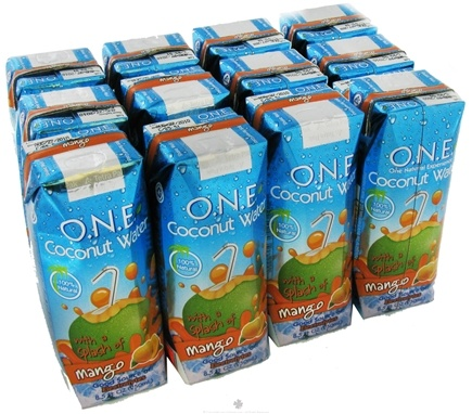 DROPPED: O.N.E. - Coconut Water 100% Natural Mango - 8.5 oz.