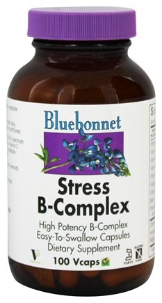 Bluebonnet Nutrition - Stress B Complex High Potency - 100 Vegetarian Capsules