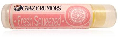 DROPPED: Crazy Rumors - Fresh Squeezed Lip Balm Pink Grapefruit Juice - 0.15 oz. CLEARANCE PRICED