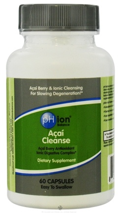 DROPPED: pHion Balance - Acai Cleanse Ionic Digestive Complex - 60 Capsules CLEARANCE PRICED