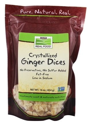 NOW Foods - Ginger Dices Crystalized - 16 oz.