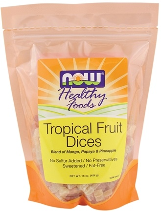 DROPPED: NOW Foods - Healthy Foods Dices Tropical Fruit - 16 oz. CLEARANCE PRICED