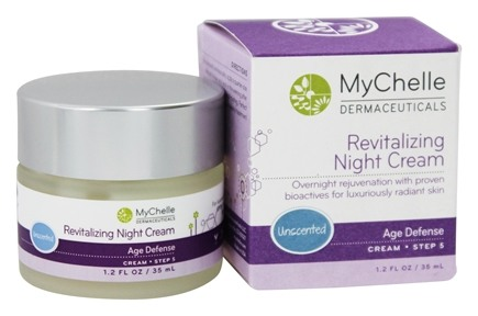 DROPPED: MyChelle Dermaceuticals - Revitalizing Night Cream Age Defense Step 5 Unscented - 1.2 oz.