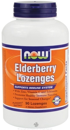 DROPPED: NOW Foods - Elderberry Lozenges Immune System Support - 90 Lozenges