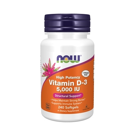 NOW Foods - Vitamin D3 Highest Potency 5000 IU - 240 Softgels