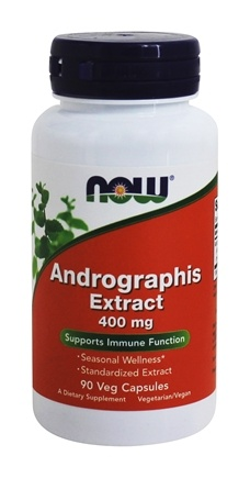 NOW Foods - Andrographis Extract 400 mg. - 90 Vegetarian Capsules