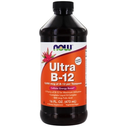 DROPPED: NOW Foods - Ultra B-12 Liquid 5000 mcg. - 16 oz. CLEARANCE PRICED