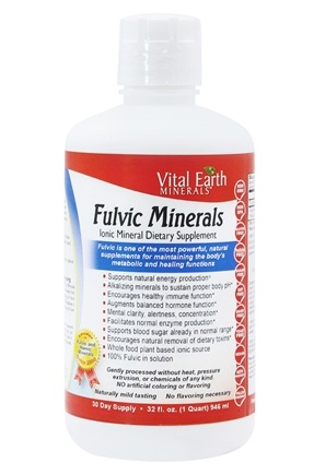 Vital Earth - Fulvic Mineral Complex Ionic Mineral Supplement Fulvic Acid - 32 oz.