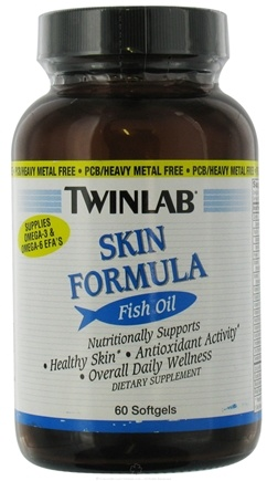DROPPED: Twinlab - Skin Formula Fish Oil - 60 Softgels