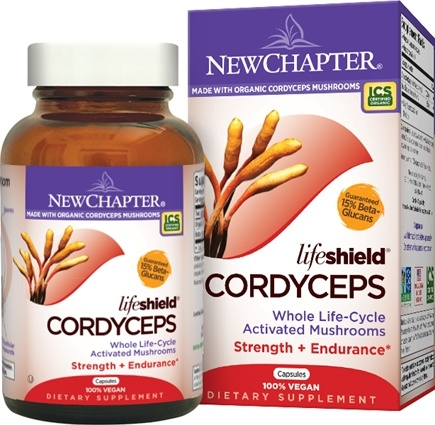 DROPPED: New Chapter - LifeShield Cordyceps Strength & Endurance 100% Vegan - 60 Vegetarian Capsules