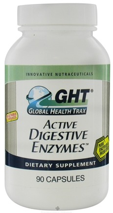 DROPPED: Global Health Trax (GHT) - Active Digestive Enzymes - 90 Capsules