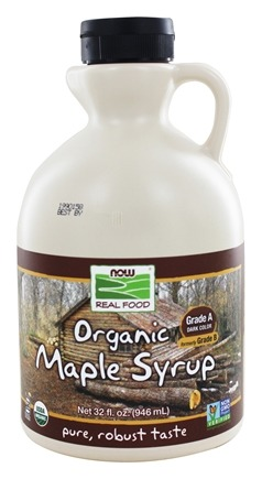 NOW Foods - Healthy Foods Maple Syrup Grade A Certified Organic Pure - 32 oz.