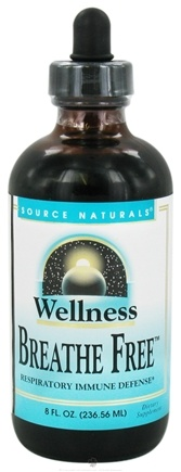DROPPED: Source Naturals - Wellness Breathe Free Respiratory Immune Defense Cherry Flavor - 8 oz. CLEARANCE PRICED