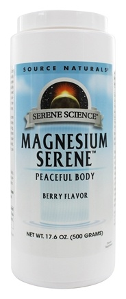 DROPPED: Source Naturals - Magnesium Serene Relaxing Drink For Daily Stress Berry Flavor 800 mg. - 17.6 oz. CLEARANCE PRICED