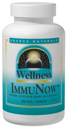DROPPED: Source Naturals - Wellness ImmuNow Humic Acid 250 mg. - 30 Tablets CLEARANCE PRICED