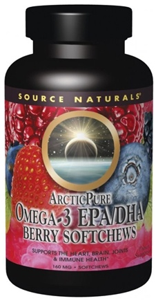 DROPPED: Source Naturals - ArcticPure Omega-3 EPA/DHA Berry 160 mg. - 50 Soft Chews CLEARANCE PRICED