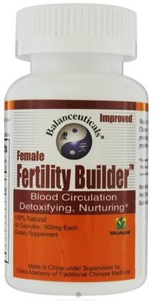 DROPPED: Balanceuticals - Female Fertility Builder Blood Circulation Detoxify, Nurturing 500 mg. - 60 Vegetarian Capsules CLEARANCE PRICED