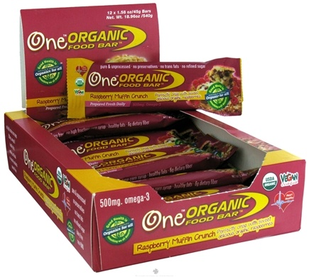 DROPPED: Organic Food Bar - One Raspberry Muffin Crunch - 1.58 oz.