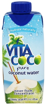 Vita Coco - Coconut Water 100% Pure 330ml. Unflavored - 11.1 oz.