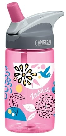 DROPPED: CamelBak - Kids BPA Free Plastic Bottle Pink Zinnias Design - 12 oz. CLEARANCE PRICED