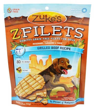 DROPPED: Zuke's - Z-Filets Dog Treats Grilled Beef Strips - 3.25 oz. (formerly Prime Beef)