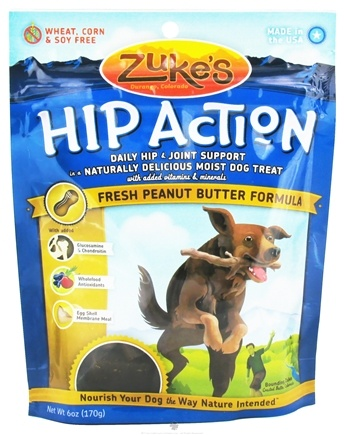 DROPPED: Zuke's - Hip Action Dog Treats Peanut Butter Formula - 6 oz. CLEARANCE PRICED