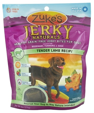 DROPPED: Zuke's - Jerky Naturals Dog Treats Tender Lamb Formula - 6 oz.
