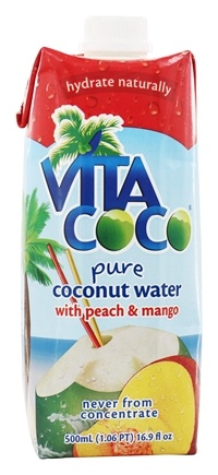 DROPPED: Vita Coco - Coconut Water 500 ml. Peach & Mango - 17 oz.