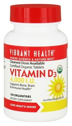 Vibrant Health - Vitamin D3 4000 IU - 100 Tablets