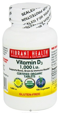 DROPPED: Vibrant Health - Vitamin D3 1000 IU - 100 Tablets