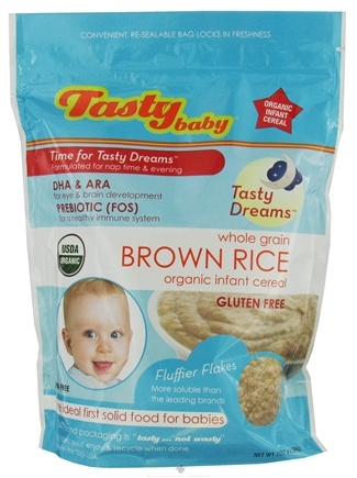 DROPPED: Tasty Baby - Tasty Dreams Brown Rice Organic Infant Cereal Gluten Free - 7 oz.