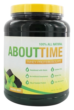 DROPPED: About Time - Whey Protein Isolate Mocha Mint - 2 lbs.